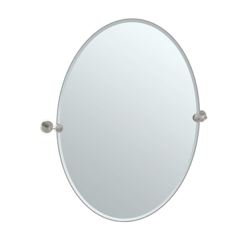 latitude ii rectangle mirror satin nickel 32