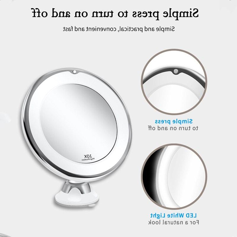 LED <font><b>Mirror</b></font> Makeup with light vanity <font><b>Mirror</b></font> 7X Magnifying LED Grossissant Magnifying Dropshipping Vip