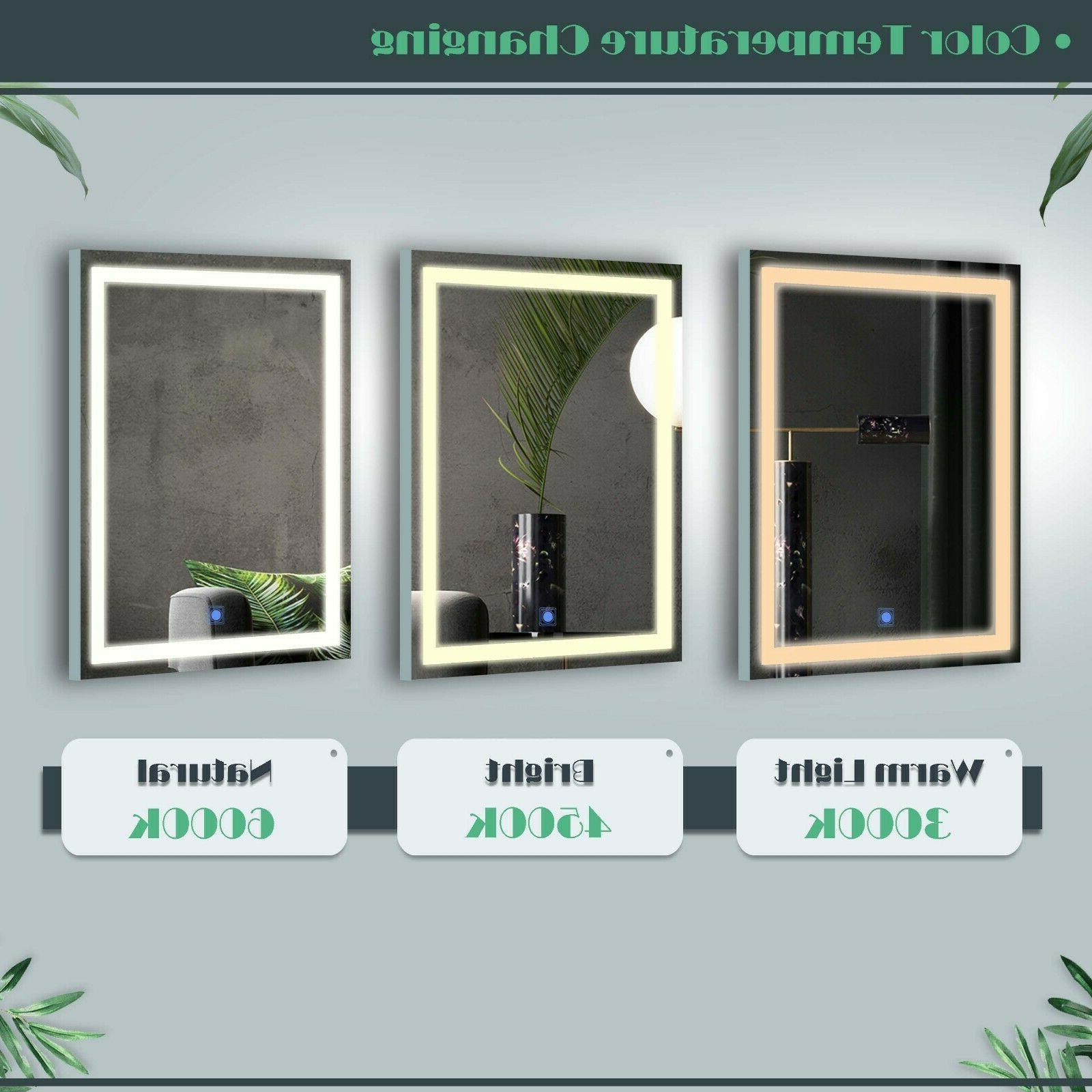 LED Vanity Table set with Lighted Mirror and