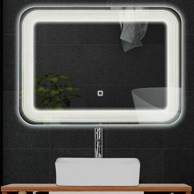 LED Wall-Mount Mirror Bathroom Vanity W/Touch Button