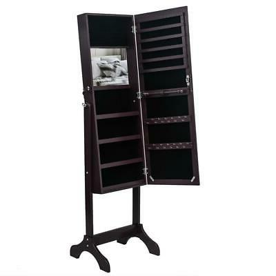 Lockable Length Jewelry Dressing Armoire