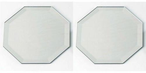 lot of 2 octagon glass mirror