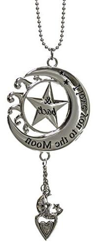 LOVE YOU TO THE MOON Ganz Car Charm w/ Dangle Charms & Chain