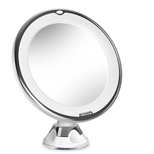 magnifying lighted vanity mirror