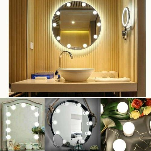 makeup mirror lights 10 led kit bulbs