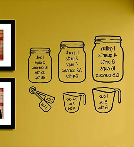 Measuring Cups Vinyl Wall Decal Sticker