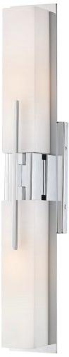 "Possini Euro Design Midtown 23 1/2"" High Chrome Bath Light"