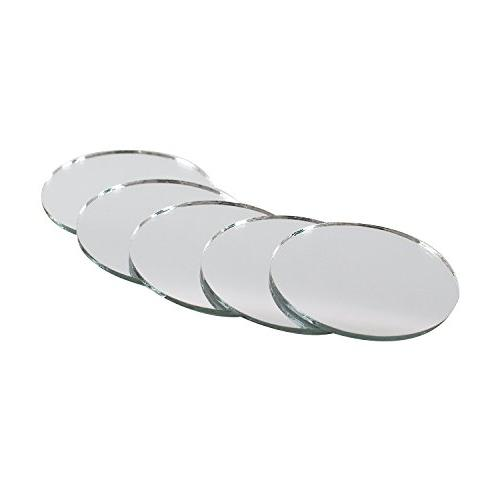 mini round inch glass mirror