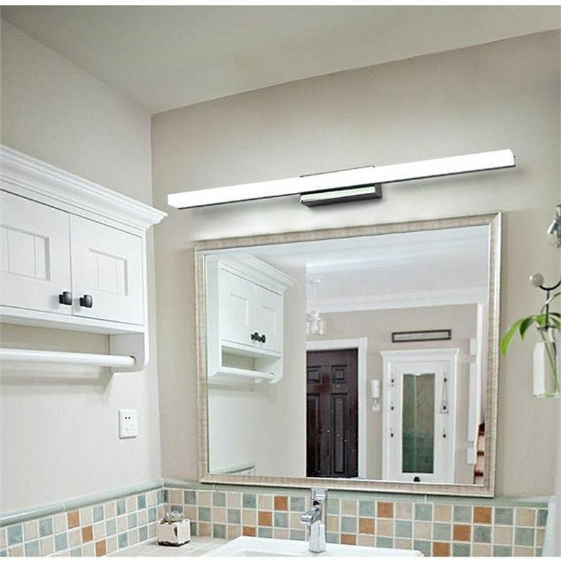modern bathroom led anti fog mirror front