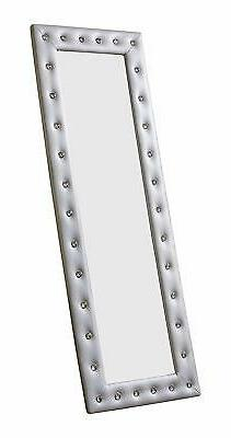 Kings Upholstered Tufted Standing Mirror,