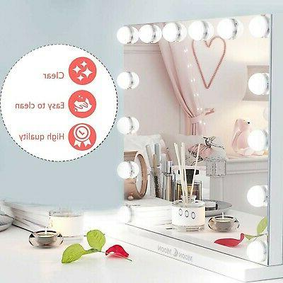 MoonMoon Hollywood with Lights,Professional Makeup Mirror &