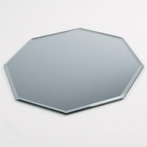 octagon beveled centerpiece table mirror