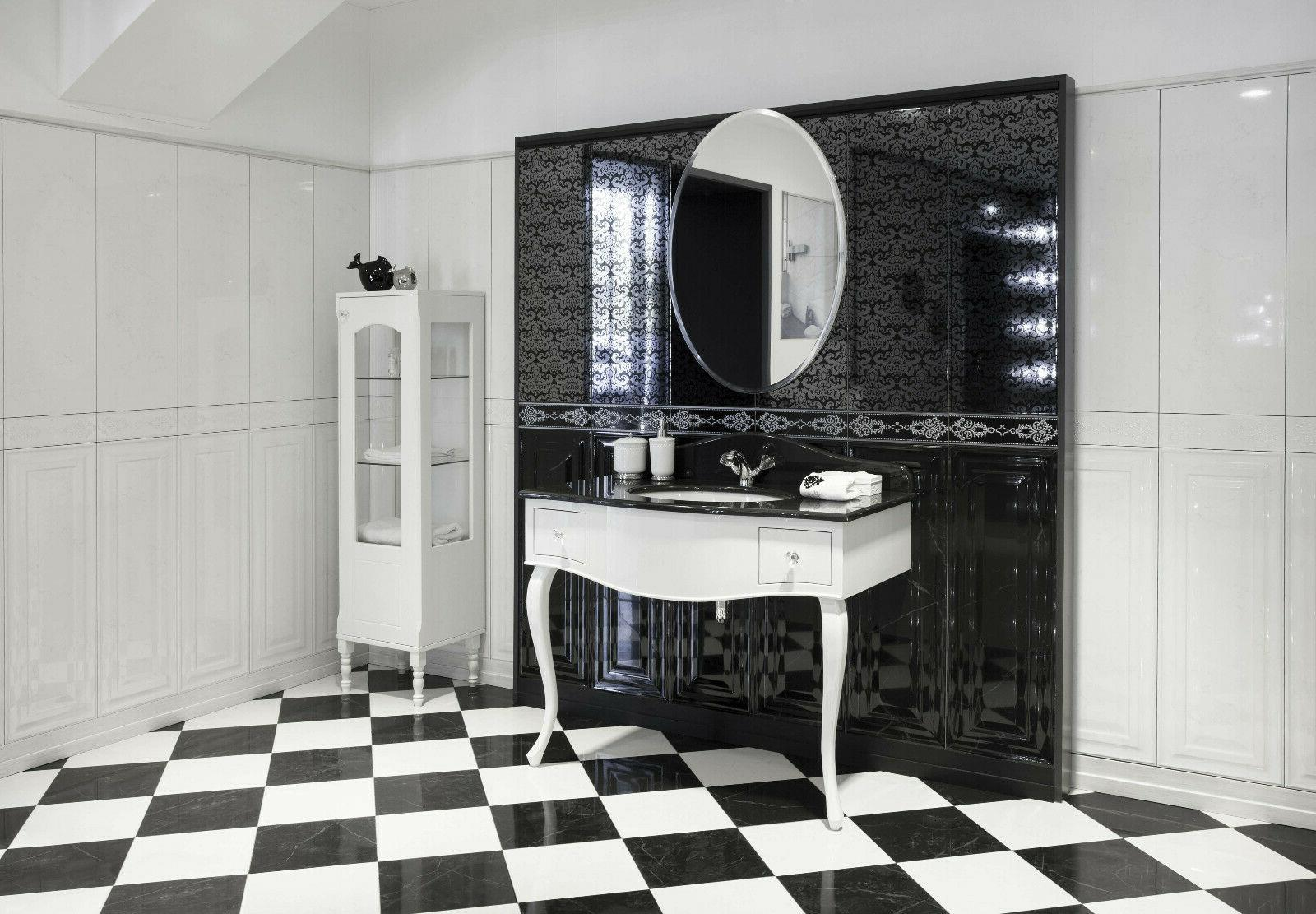 Fab Glass and Oval Beveled Frameless Wall with Hooks