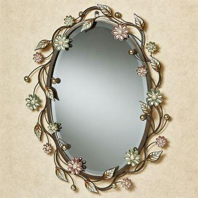 oval flower metal wall mirror wall decor