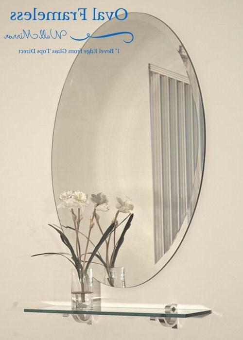 Oval Mirror with Beveled -