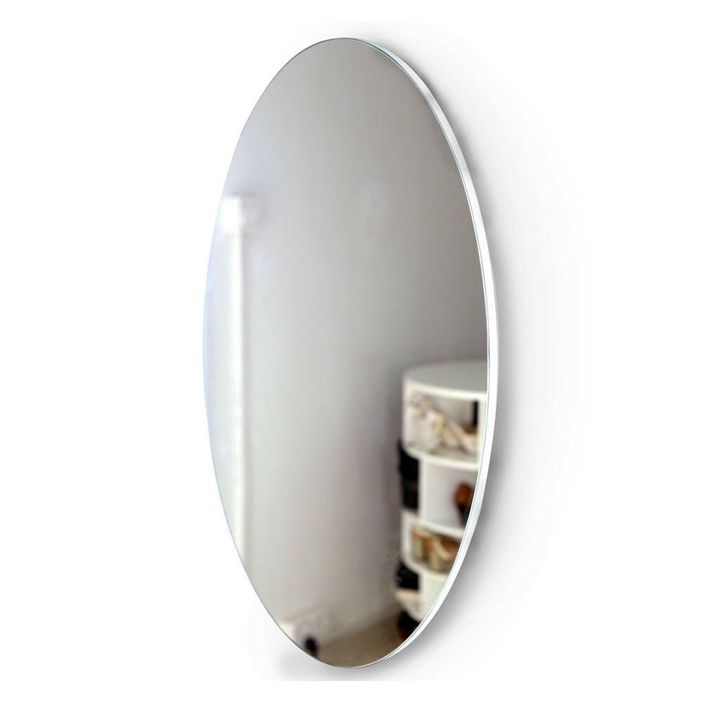 Oval Mounted Dressing Mirror Vertical