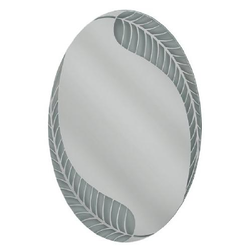 palm leaf oval mirror