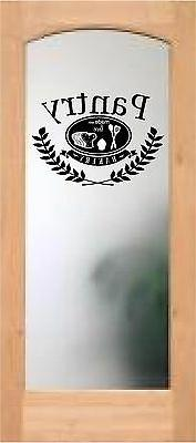 pantry door decal sticker made with love