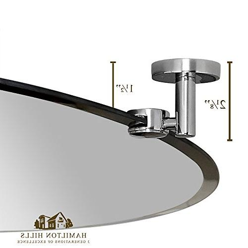 Hamilton Pivot Oval with Chrome Silver & Mirror |  x
