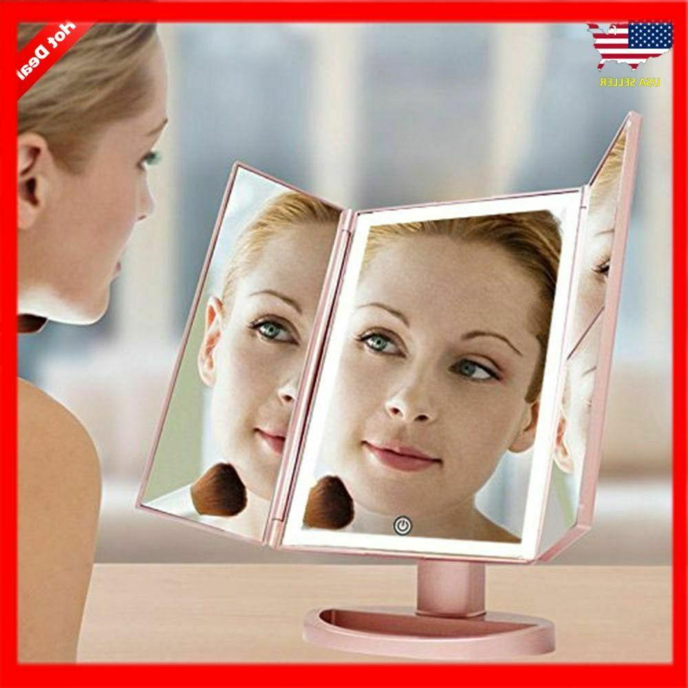 Portable Vanity Mirror Trifold Professional Magnifying 3X