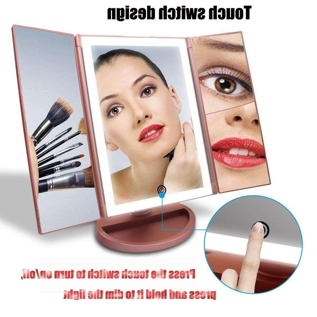 Portable Vanity Mirror Trifold Professional 3X Tabletop