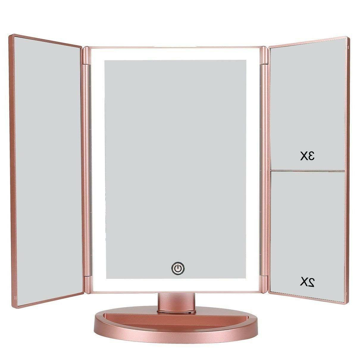 portable vanity mirror trifold professional makeup travel
