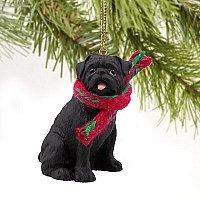 1 X Pug Miniature Dog Ornament - Black by Conversation Conce