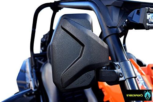 "Chupacabra Offroad View Side Mirror For - 2"" Roll Break Away High Impact Shatter Tempered Glass"