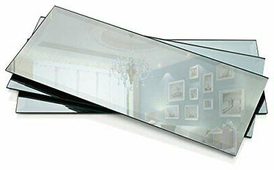 rectangle mirror candle plate thick