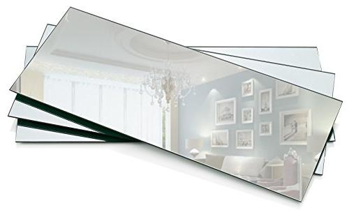 Rectangle Mirror - Rectangle Mirror 5 inch x inch with mm Beveled Centerpieces, Candle Plates, Wall Décor