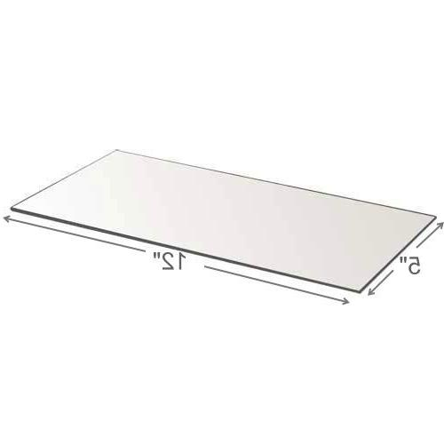 Rectangle Mirror Tray - Rectangle Panels 5 inch 12 inch Mirror with mm - Use Centerpieces, Plates, Décor