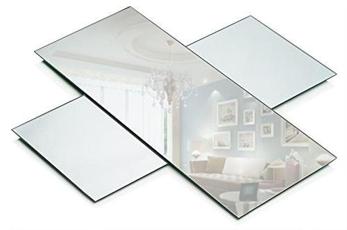 - 3 Rectangle Mirror 5 12 inch with mm Thick - Use as Centerpieces, Candle Plates, Décor