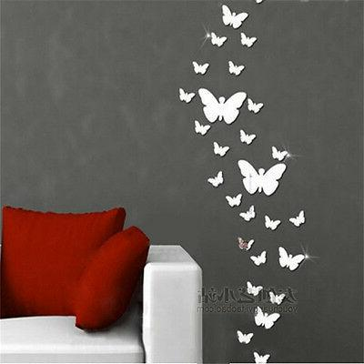 Removable Mirror Mural Wall Decor