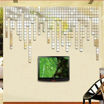 Removable Mirror Mural Wall Stickers Home Decor