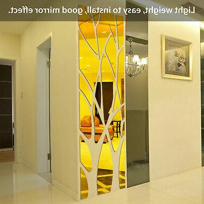 Removable Mirror Decal Art Stickers Room Decoration