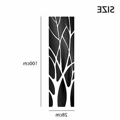 Removable Mirror Tree Decal Art Mural Wall Stickers