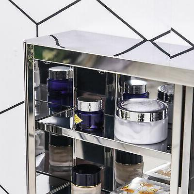 Restroom Floating Sturdy Pantry Side Shifting Glass,