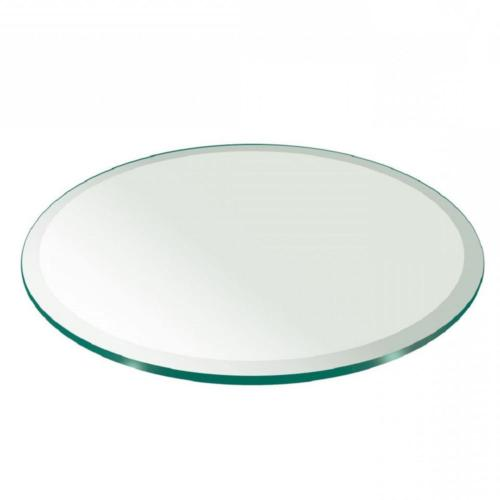 "Round Glass Table 36 Clear 1/2"" Thickness Polished"