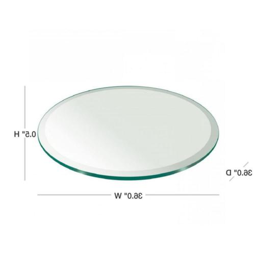 Round Table 36 in. Thickness Beveled Polished