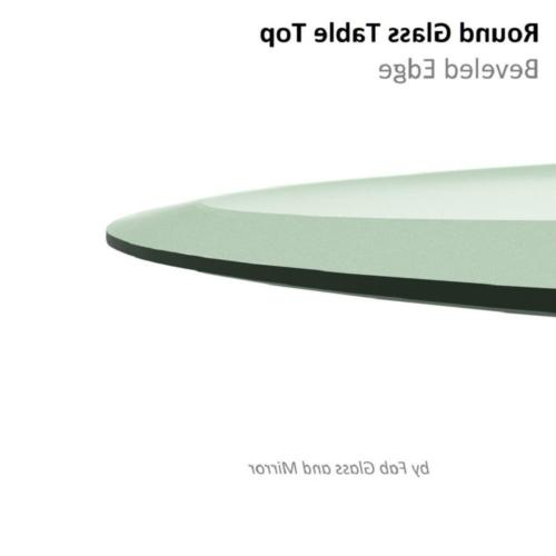 Round Glass Table 36 in. Thickness Tempered Polished