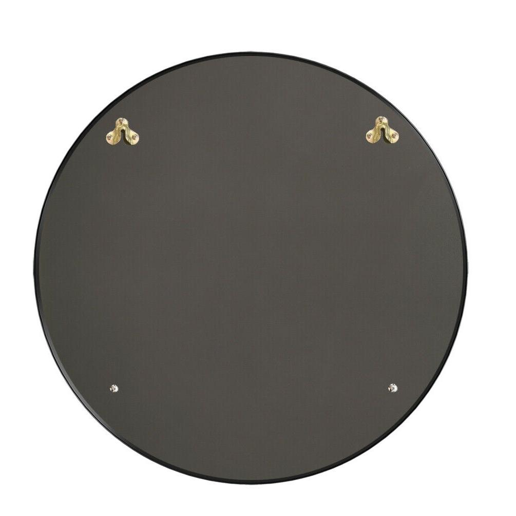 Round Mirror Metal Black Livingroom