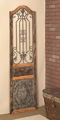 """Deco Rustic Arched Door-Inspired and Wall Decor, 72"""" x 19"""""""