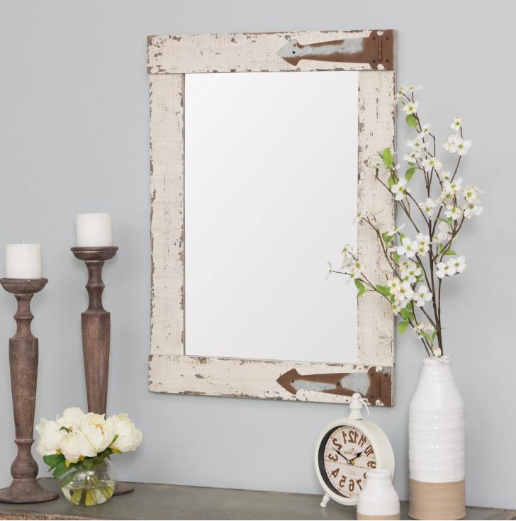 rustic farmhouse vanity wall mirror reclaimed wood