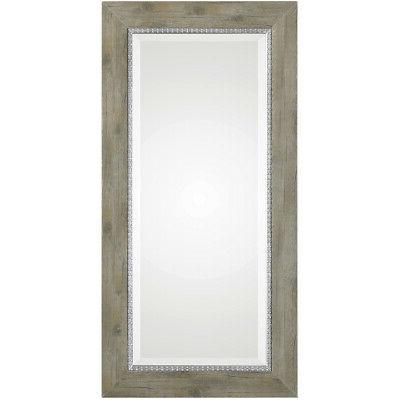 sheyenne rustic wood wall mirror