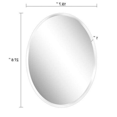 Oval Mirror Horizontal Vertical