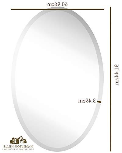 Large Simple Streamlined 1 Wall Mirror | Premium Silver Backed Rounded Glass | Bedroom, Frameless HangsHorizontal or