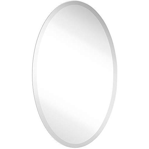 simple round streamlined beveled oval