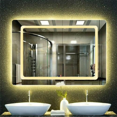 Smart Fog Mirror with LED Bright Light Memorize