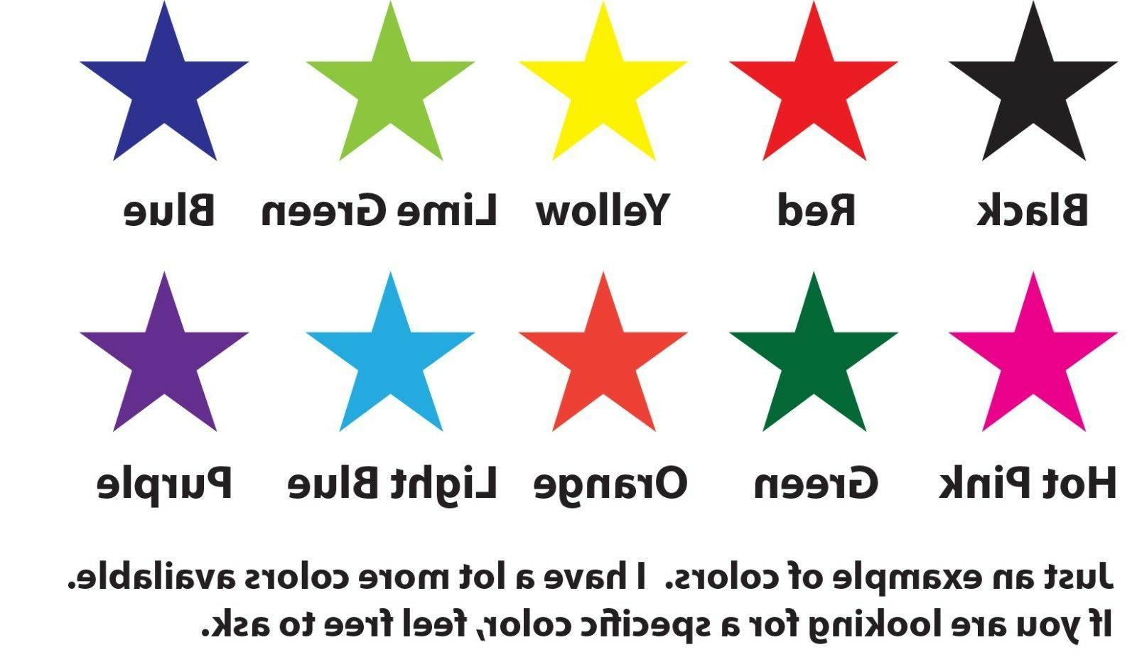 star vinyl decal stickers lot choose your