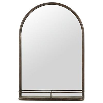 stone and beam modern arc iron mirror